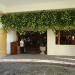 Portico entrance to hotel