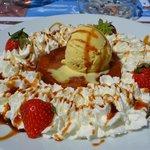 tarte tatin a la crema chantilly