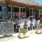 GREAT Seafood at Bolonia's beachside restaurants