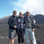 On top of Mt. Etna with Davide