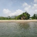 View of private beach from water