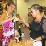 Sia and Alina at Tasting