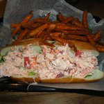 Lobster Roll with Sweet Potatoe fries