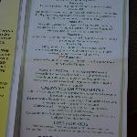 Page 3 of menu (July 2012)