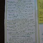 Page 1 of menu (July 2012)