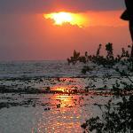 coucher de soleil de la plage du bas