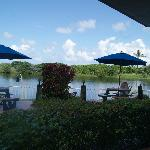 BBQ areas on the Lagoon between Hotel and Beach