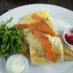 Smoked Salmon Omelet with Rocket