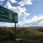 Crossing into Yukon, Canada