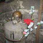 one of the bronze skulls
