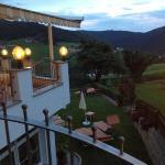 Vista dalla veranda dell'hotel