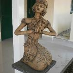 Woman Sculpture in Javanese-styled Clothing