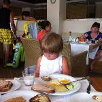 During dinner