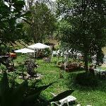 Jardin, espace pour le petit déjeuner