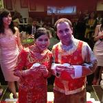 Traditional Bride & Groom outfit provided by the Phoenix Palace for our chinese wedding ceremony