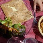 galette con contorno (crepe salata)