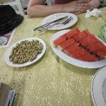 Pistaches (à ne pas manquer) et pastèque raffraichissante