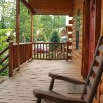 Front porch of cabin
