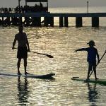 Sunset paddle board