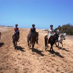 Riding without saddle at the beach - the most natural way