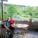 Petit-déjeûner en terrasse