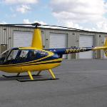 the R-44 operated by Crystal Coast Helicopters, Newport, NC.