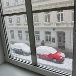 The view from my apartment. Snow had fallen quietly that night and I awoke to this lovely surpr