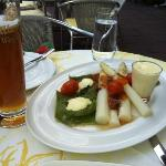 White asparagus and excellent Zillertal wheat beer