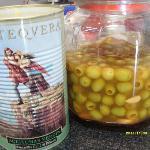 Marinated Malaga olives with garlic