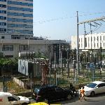 Estación eléctrica en el exterior