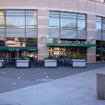 Front entrance & patio area