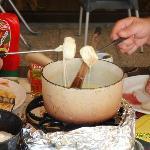 une fondue au restaurant les Habères  (habères poche)
