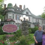 My husband, and I, in front of the Inn
