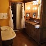 The most amazing bathroom and robes!