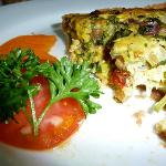 Breakfast: quiche