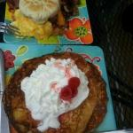 Egg Sanchwich & Pineapple Pancakes
