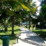 Walking through the grounds from the beach on Half-Board Side of Hotel