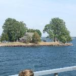 Just one of the tiny islands passed