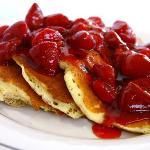 Strawberry Pancakes at Staxs Omega