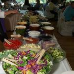 Salad bar at my wedding