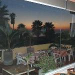 Bobby's patio at dusk