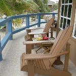 Outside sitting area with beach front room