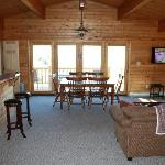 Main floor--enters onto deck overlooking Shoshone river and mountains
