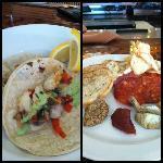 Monk Fish Taco, Salami Plate