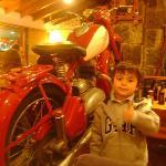 Una moto de decoración