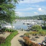 View of Geneva Lake from restaurant window