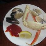 Seafood from Saturday buffet