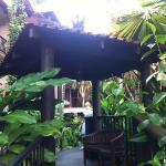 Bali themed walk way