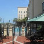 Hotel entrance / pool