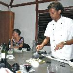Michelle cooking teppanyaki